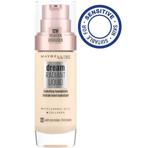 Maybelline Dream Radiant Liquid Foundation Light Porcelain 4 30 ml