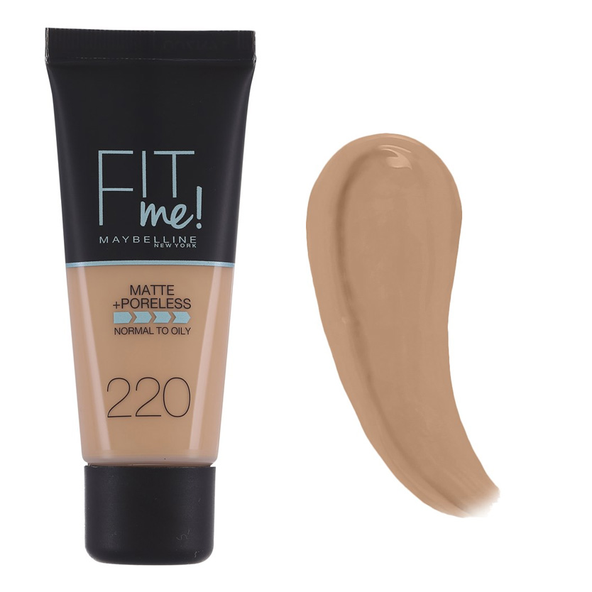 Maybelline Fit Me Matte And Poreless Foundation Natural Beige 220 30 ml