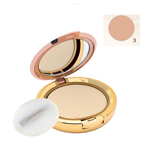 Coverderm Compact Powder Waterproof 10g Dry/Sensitive 3
