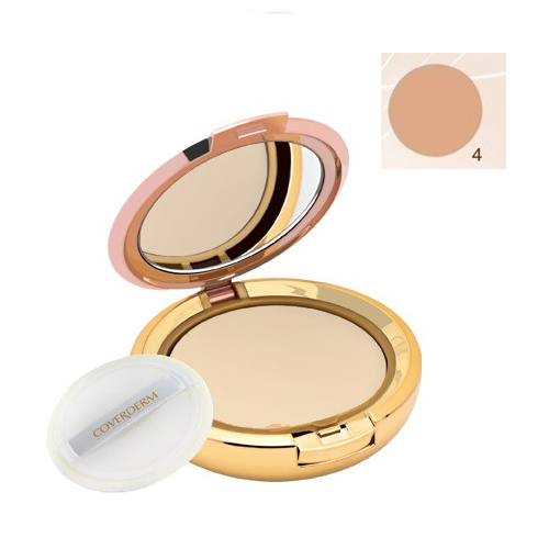 Coverderm Compact Powder Waterproof 10g Dry/Sensitive 4