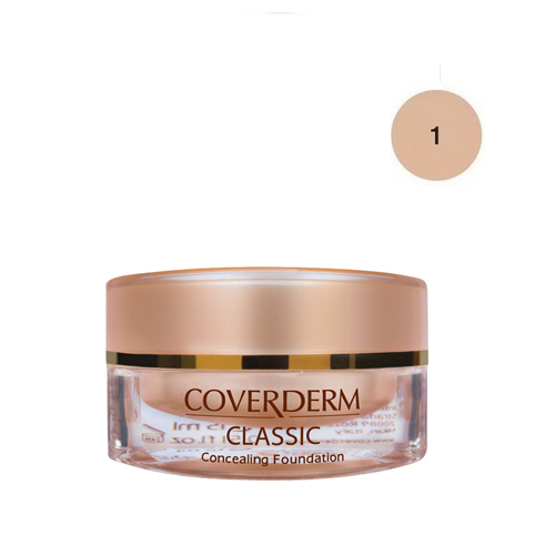 Coverderm Classic Foundation Waterproof 15 ml 1