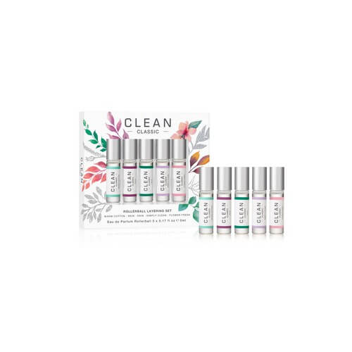 Clean Classic Rollerball Layering EdP 5x5 ml Christmas Set