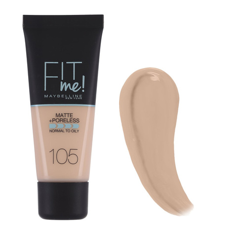Maybelline Fit Me Matte And Poreless Foundation Soft Ivory 104 30 ml