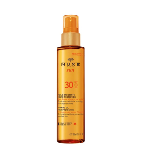 Nuxe Sun Tanning Oil For Face & Body High Protection SPF 30 150 ml