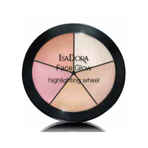 IsaDora Face Glow Highlighting Wheel Champagne Glow 18g