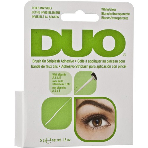 Ardell DUO Brush On Striplash Adhesive White/Clear Franslim