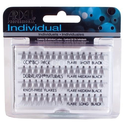 Ardell Indviduals Duralash Naturals Knot-free Flares Combo Pack Black