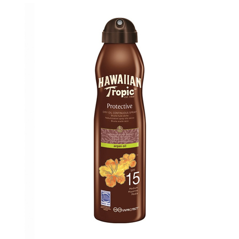 Hawaiian Tropic Protective Dry Oil Argan Oil Continuous Spray Spf15 177 ml