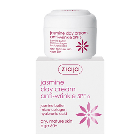 Ziaja Jasmine Day Cream anti-wrinkle 50+ SPF 6 50 ml