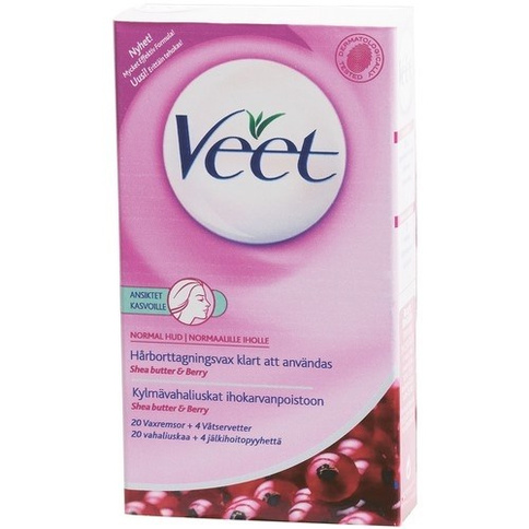 Veet Face Precision Wax Strips Normal Skin 20st