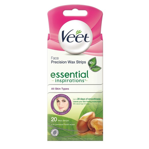 Veet Face Precision Wax Strips Essential Inspirations All Skin Types 20st