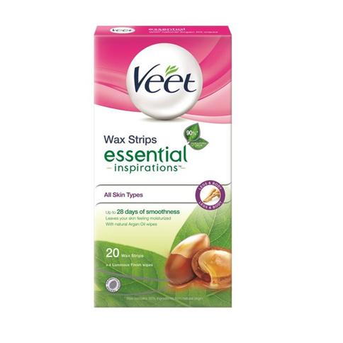 Veet Wax Strips Essential Inspirations for Legs All Skin Types 20st