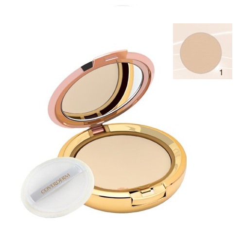 Coverderm Compact Powder Waterproof 10g Dry/Sensitive 1