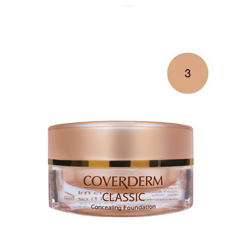 Coverderm Classic Foundation Waterproof 15 ml 3