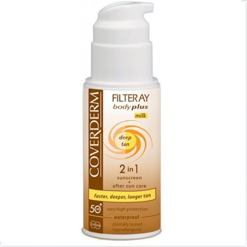 Coverderm Filteray Body Plus Deep Tan Waterproof Milk SPF 50+ 100 ml