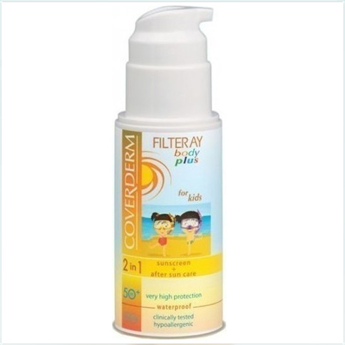 Coverderm Filteray Body Plus For Kids Waterproof Milk SPF 50+ 100 ml
