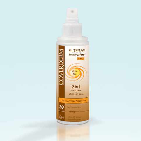 Coverderm Filteray Body Plus Deep Tan Waterproof Spray SPF 30 100 ml