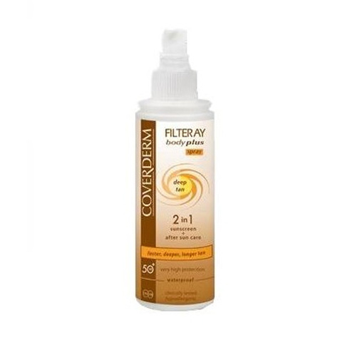 Coverderm Filteray Body Plus Deep Tan Waterproof Spray SPF 50+ 100 ml