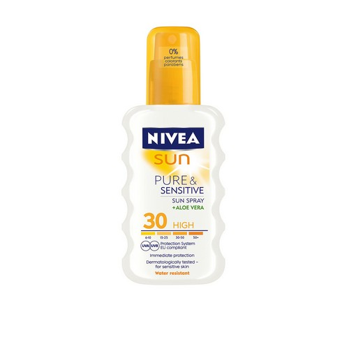 Nivea Pure & Sensitive Spray SPF 30 200 ml