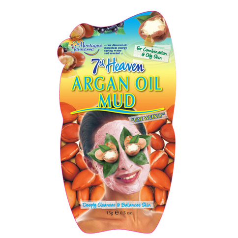 7th Heaven Ansiktsmask Argan Oil Mud Comb and Oily Skin 15g
