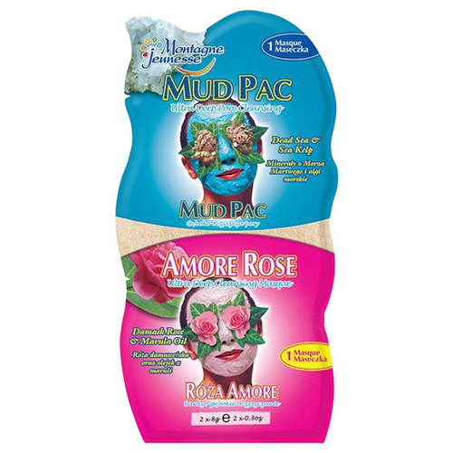 7th Heaven Ansiktsmask Mud Pac / Amore Rose 2x6 ml