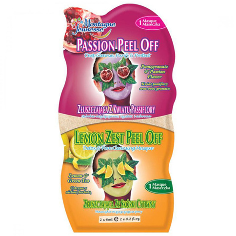 7th Heaven Ansiktsmask Passion Peel-Off/ Lemon Zest Peel-Off 2x6 ml