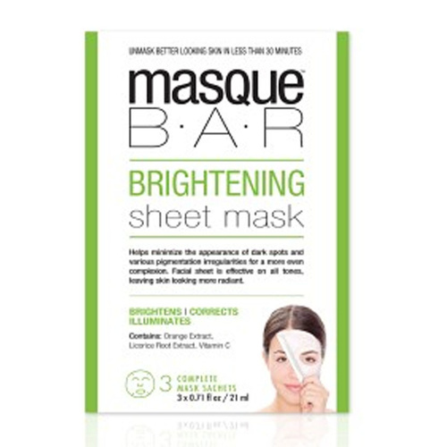 MasqueBAR Brightnening Sheet Mask 3 x 21 ml