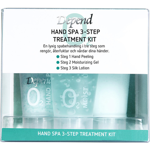 Depend O2 VÅRD Hand Spa 3-Step Treatment Start Kit