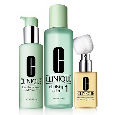 Clinique 3-Step Skin Care Intro Set. Skin Type 1 180 ml