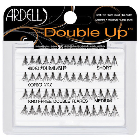 Ardell Double Up Lashes Duralash Individuals Combo Pack Knot-free Double Flares