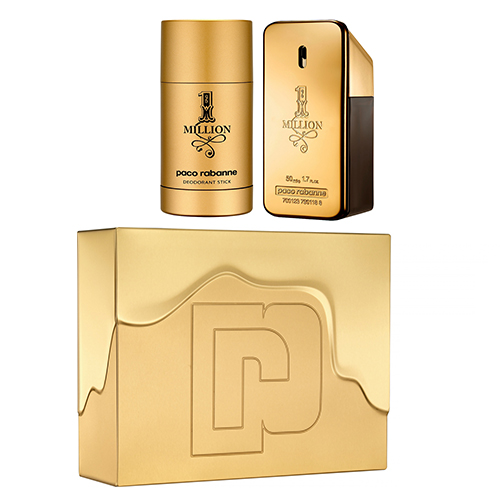 PACO RABANNE 1 MILLION GIFTSET EDT 50 ML + DEO 75 ML
