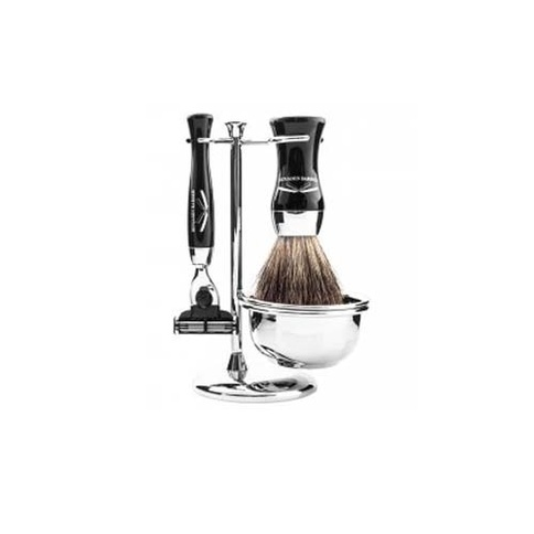 Benjamin Barber Duke SR 4-Piece Shaving Set Ebony Mach3