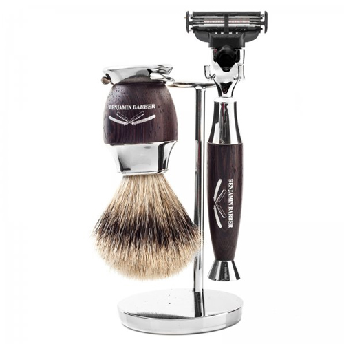 Benjamin Barber Marquise 3-Piece Shaving Set Mach3