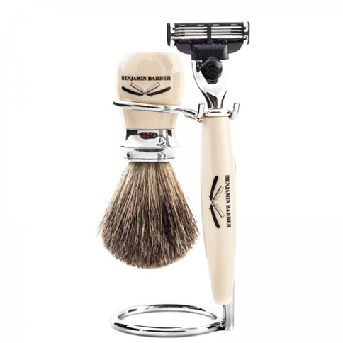 Benjamin Barber Duke MP 3-Piece Shaving Ivory Safety Razor