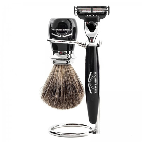 Benjamin Barber Duke MP 3-Piece Shaving Ebony Safety Razor