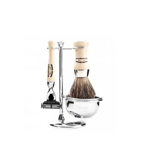 Benjamin Barber Duke SR 4-Piece Shaving Set Ivory Safety Razor