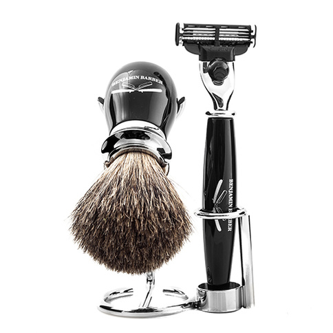 Benjamin Barber Duke MP 3-Piece Shaving Ebony Fusion