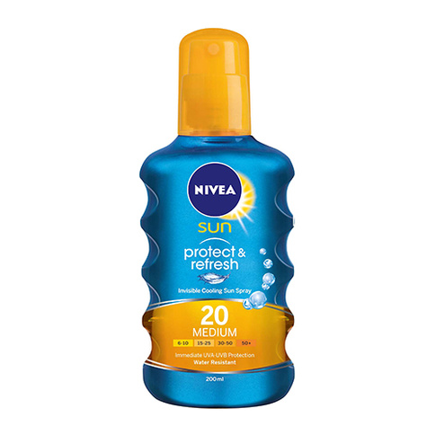 Nivea Invisible Cooling Sun Spray SPF 20 200 ml