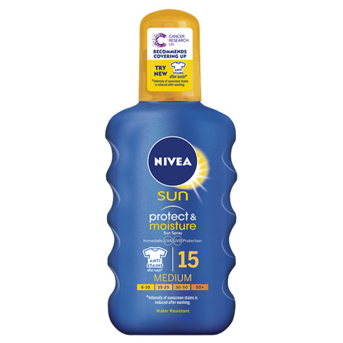 Nivea Moisturising Sun Spray SPF 15 200 ml