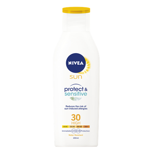 Nivea Protect & Sensitive Sun Lotion SPF30 200 ml