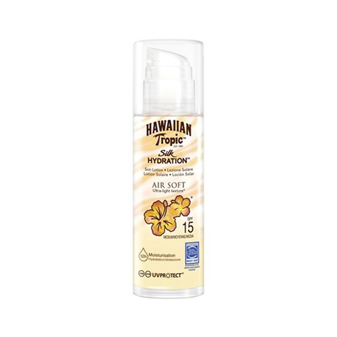 Hawaiian Tropic Silk H Air Soft Pump Sun Lotion SPF 15 150 ml