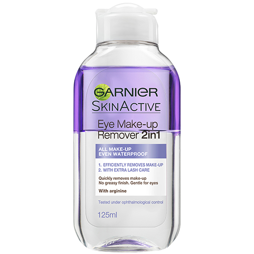 Garnier Skin Active Face Eye Make-up Remover 2 in1 125 ml