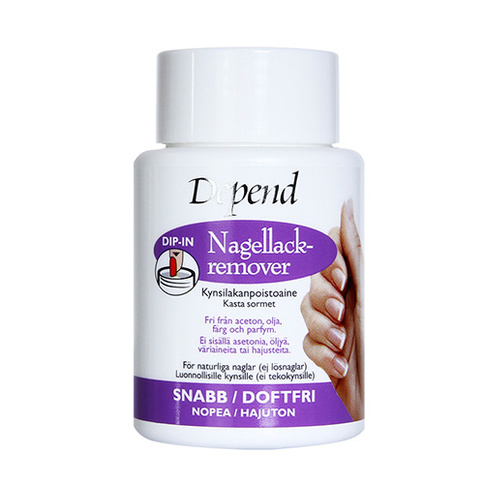 Depend Nagellackremover Dip-in Lila 75ml
