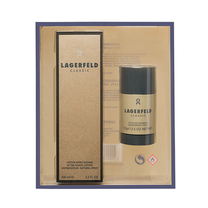 Karl Lagerfeld Classic After Shave 100Ml Med Deostick 75G Giftset