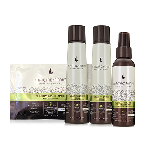 Macadamia Weightless Moisture Travel Kit