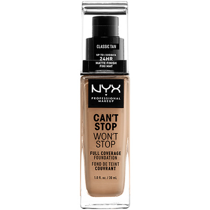 NYX Professional Makeup Can´t Stop Won´t Stop Foundation CSWSF12 Classic tan