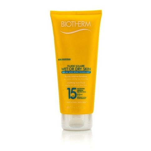 Biotherm Fluide Solair Wet Or Dry SPF 15 Suncare 200 ml