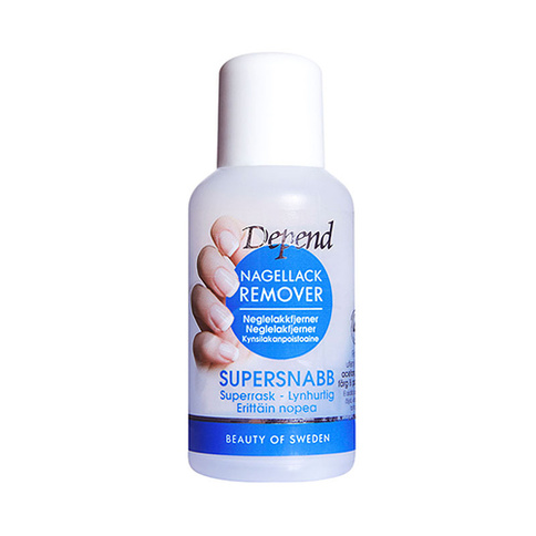 Depend Nagellackremover Supersnabb Blå 30 ml Mini