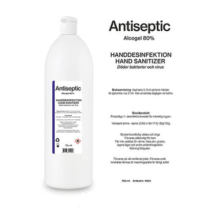 Handsprit Alcogel Handdesinfektion 80 % 750 ml