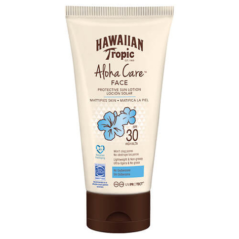 Hawaiian Tropic Aloha Care Face Protective Sun Lotion Spf30